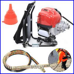 38.7CC 1.4HP 4-Stroke Backpack Concrete Cement Vibrator Gas Powered Engine