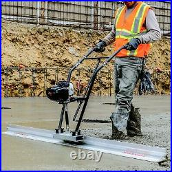 Power Screed Concrete Finishing Float 12ft Blade Board 37.7cc Gas Vibrating Tool