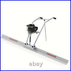 Power Screed Concrete Finishing Float 4ft Blade Board 37.7cc Gas Vibrating Tool