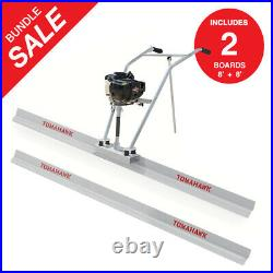Power Screed Concrete Finishing Float 8ft Blade Board 37.7cc Gas Vibrating Tool
