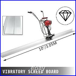 Power Screed Concrete Finishing Tool 10' Blade Board 37.7cc Gas Vibrating Screed