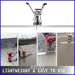 Power Screed Concrete Finishing Tool 12' Blade Board 37.7cc Gas Vibrating Screed