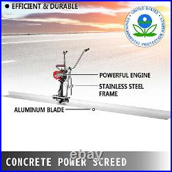 Power Screed Concrete Finishing Tool 14' Blade Board 37.7cc Gas Vibrating Screed