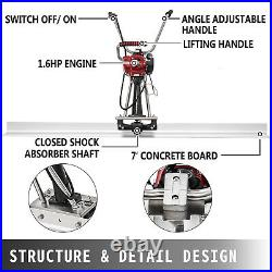 Power Screed Concrete Finishing Tool 7' Blade Board 37.7cc Gas Vibrating Screed