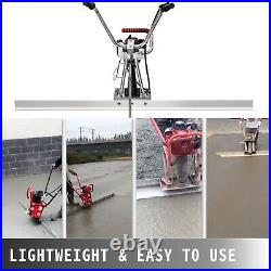 Power Screed Concrete Screed 6.5' Blade Board 37.7cc Gas Power Vibrating Screed